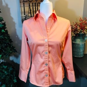 BANANA REPUBLIC ** Peach Button Up Bouse
